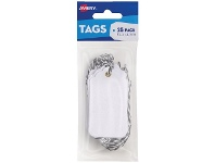 Officeworks Avery Scallop Tags White 85 x 45mm 25 Pack