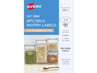 Officeworks Avery Cottage Collection Oval Labels 24 Pack