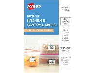 Officeworks Avery Rectangle Removable Freezer-safe Labels 40 Pack