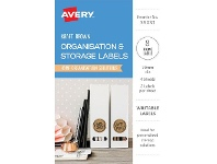 Avery Round Labels Kraft and Black 8 Pack