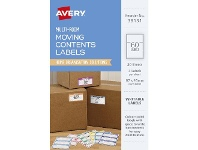 Officeworks Avery Moving Contents Labels 100 x 25mm 20 Sheets