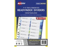 Officeworks Avery Table of Contents Divider A4 1-15 Tab