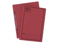 Officeworks Avery Spiral Spring File Foolscap Red with Black Print