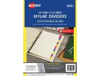 Officeworks Avery A4 Rip-Proof Rewritable 10 Tab Dividers