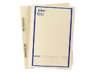 Officeworks Avery Foolscap Spiral Spring File Buff with Blue Print