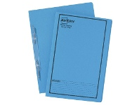 Officeworks Avery Foolscap Spiral Spring Files Blue 5 Pack