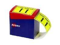 Officeworks Avery This Way Up Labels 75 x 99.6mm Yellow 750 Pack