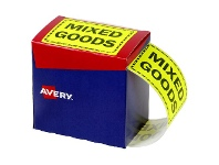Officeworks Avery Mixed Goods Labels 75 x 99.6mm Yellow 750 Pack