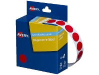Officeworks Avery Self-adhesive Dispenser Labels Red 14mm 1050 Pack