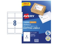 Officeworks Avery 8UP Internet Shipping Labels 10 Sheets