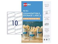 Officeworks Avery Rectangle Labels 66 x 46.5mm White 40 Pack