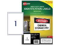 Officeworks Avery Heavy Duty Labels 1UP 25 Pack