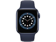 Officeworks Apple Watch Series 6 40mm GPS Cellular Blue Navy Band