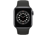 Officeworks Apple Watch Series 6 40mm GPS Space Grey and Black