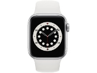 Officeworks Apple Watch Series 6 40mm GPS Silver and White