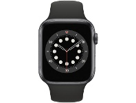 Officeworks Apple Watch Series 6 44mm GPS Space Grey and Black