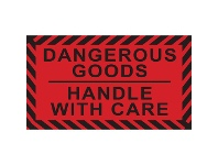 Officeworks Stock Forms Dangerous Goods Labels 70x40mm Red/Black 250 Pack