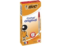 Officeworks BIC Cristal Ballpoint Pens Red 12 Pack
