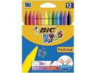 Officeworks BIC Plastidecor Crayons 12 Pack