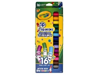 Officeworks Crayola Pip-Squeaks Washable Coloured Markers 16 Pack