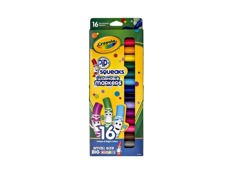 Crayola Pip-Squeaks Washable Coloured Markers 16 Pack