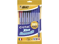 Officeworks BIC Cristal Xtra Smooth Ballpoint Pens Assorted 10 Pack