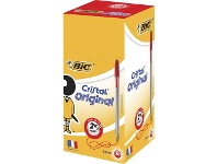 Officeworks BIC Cristal Ballpoint Pens Red 50 Pack