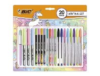Officeworks BIC Pastel Writing Essentials Set 20 Pack