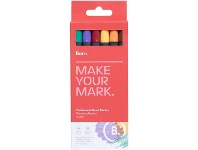 Officeworks Born Professional Brush Markers Primary Collection 6 Pack