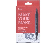 Officeworks Born Professional Design Markers Grey Collection 7 Pack