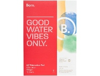 Officeworks Born 25% Cotton Watercolour Pad 200gsm 12 Sheets A3