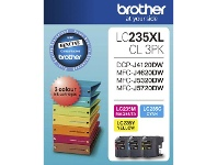 Officeworks Brother LC 235XL Ink Cartridges 3 Colour Value Pack