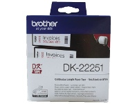Officeworks Brother DK 22251 Paper Tape 62mm wide Black & Red on White