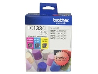 Officeworks Brother LC 133 Ink Cartridges 3 Colour Value Pack