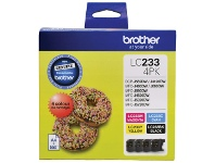 Officeworks Brother LC 233 Ink Cartridges 4 Colour Value Pack
