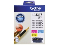 Officeworks Brother LC 3317 Ink Cartridges 3 Colour Value Pack