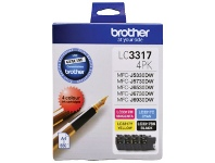 Officeworks Brother LC 3317 Ink Cartridges 4 Colour Value Pack
