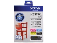 Officeworks Brother LC 3319XL Ink Cartridges 4 Colour Value Pack