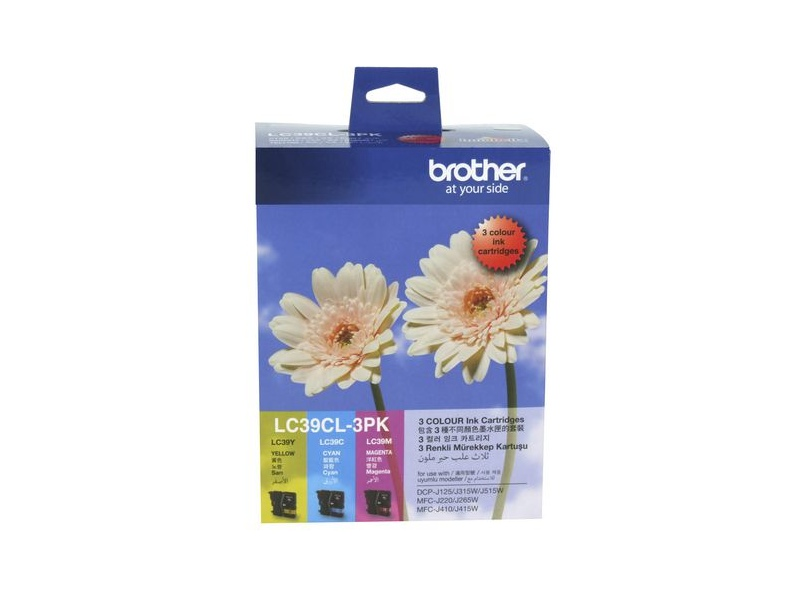 Brother LC 39 Ink Cartridges 3 Colour Value Pack