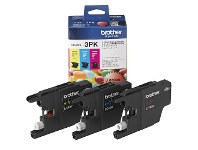 Officeworks Brother LC 40 Ink Cartridges 3 Colour Value Pack