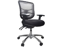 Officeworks Buro Metro Executive Chair Polished Base with Arms Black