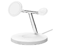Officeworks Belkin 3-in-1 MagSafe Wireless Charger White