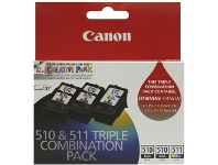 Officeworks Canon 510 and 511 Triple Combination Ink Pack