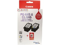 Officeworks Canon Ink Cartridge Photo Value Pack PG645CL646PVP