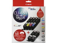 Officeworks Canon CLI 651 and PGI 650 Ink Cartridges Value 6 Pack