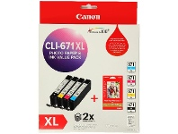 Officeworks Canon 671XL Photo Value Pack