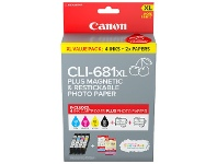Officeworks Canon CLI-681 Creative Media Ink Value 4 Pack