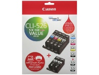 Officeworks Canon CLI526 and PGI525 Ink Cartridges Value Pack