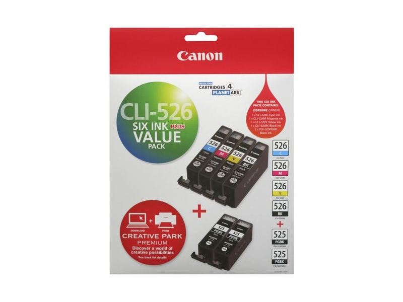 Canon CLI526 and PGI525 Ink Cartridges Value Pack