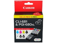 Officeworks Canon PGI 680XL and CLI 681 Ink Cartridge Value Pack